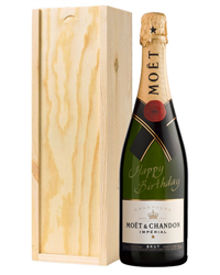 Moet Champagne Birthday Gift in Wo...