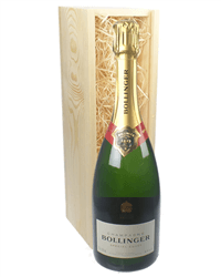 Bollinger Champagne Gift in Wooden Box