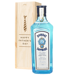 Bombay Sapphire Gin Fathers Day Gift In Wooden Box