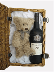 Taylors 20 Year Old Port and Teddy Bear Gift Basket