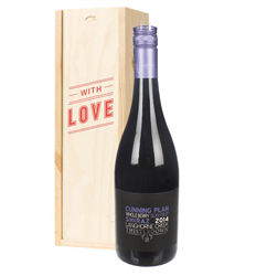 Australian Shiraz Red Wine Valentines With Love Special Gift Box