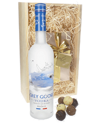 Grey Goose Vodka And Chocolates