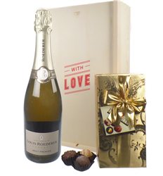 Louis Roederer Valentines Champagne and Chocolates Gift Box