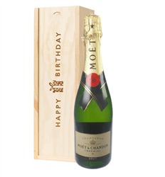 Moet et Chandon Champagne Birthday Gift In Wooden Box