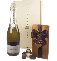 Louis Roederer Champagne and Chocolates Birthday Gift Box