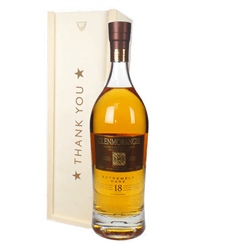 Glenmorangie 18 Year Old Single Malt Whisky Thank You Gift In Wooden Box