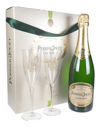 Perrier Jouet Champagne Branded Flute Set