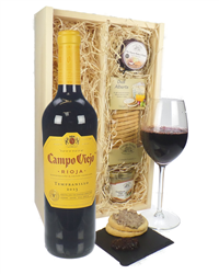 Tempranillo Wine And Gourmet Food Gift Box