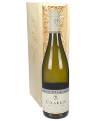 Chablis White Wine Gift in Wooden Box