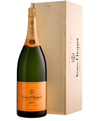 Veuve Clicquot Champagne Jeroboam 300cl in Wooden Gift box