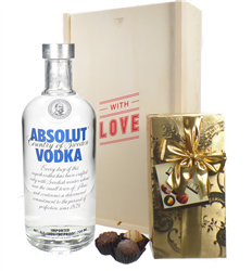 Absolut Vodka and Chocolates Valentines Gift