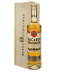 Bacardi Carta Oro Christmas Gift In Wooden Box