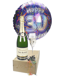 30th Birthday Champagne Flute Gift