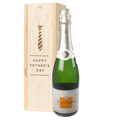Veuve Clicquot Demi Sec Champagne Fathers Day Gift In Wooden Box