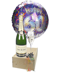 60th Birthday  Champagne Flute Gift