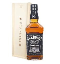 Jack Daniels Tennesse Whiskey Thank You Gift In Wooden Box