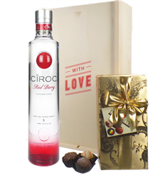 Ciroc Red Berry Vodka and Chocolates Valentines Gift