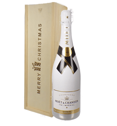 Moet Ice Imperial Champagne Single Bottle Christmas Gift In Wooden Box