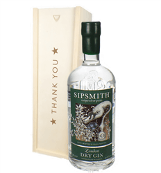 Sipsmith Gin Thank You Gift In Wooden Box