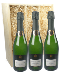 Bollinger Grande Annee Three Bottle Champagne Gift in Wooden Box