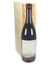 Cloudy Bay Pinot Noir Wine Gift in Wooden Box