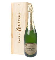 Perrier Jouet Champagne Birthday Gift In Wooden Box