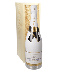 Moet Ice Imperial Champagne Gift in Wooden Box