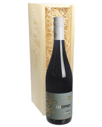 Merlot Red Wine Gift in Wooden Box