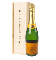 Veuve Clicquot Champagne Congratulations Gift In Wooden Box