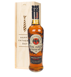 Bacardi Oakheart Rum Fathers Day Gift In Wooden Box