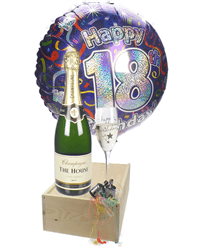 18th Birthday Champagne Flute Gift
