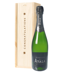 Ayala Champagne Congratulations Gift In Wooden Box