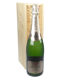 Lanson Vintage Champagne Gift in Wooden Box