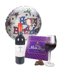 Red Wine And Chocolates Birthday Gift