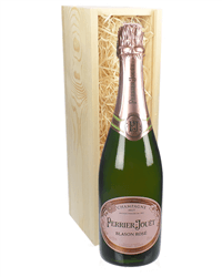 Perrier Jouet Rose Champagne Gift in Wooden Box