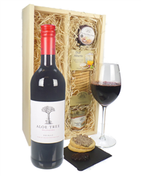 South African Shiraz Red Wine And Gourmet Food Gift Box