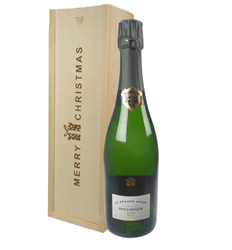 Bollinger Grande Annee Vintage Single Bottle Christmas Gift In Wooden Box