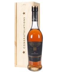 Glenmorangie Quinta Ruban Malt Whisky Congratulations Gift In Wooden Box