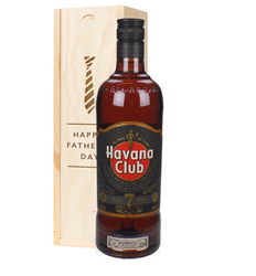 Havana Club 7 Year Old Rum Fathers Day Gift In Wooden Box