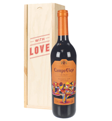 Rioja Reserva Red Wine Valentines With Love Special Gift Box