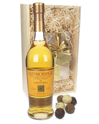Glenmorangie Original and Chocolates Gift Set in Wooden Box