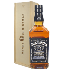 Jack Daniels Whiskey Christmas Gift In Wooden Box