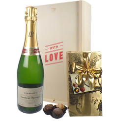 Laurent Perrier Valentines Champagne and Chocolates Gift Box