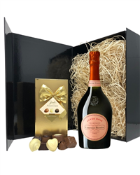 Laurent Perrier Rose Champagne & Belgian Chocolates Gift Box