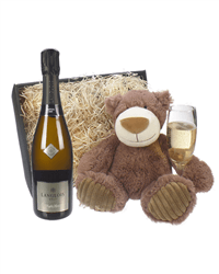 Langlois-Chateau Brut Sparkling Wine and Teddy Bear