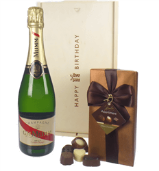 Mumm Champagne and Chocolates Birthday Gift Box