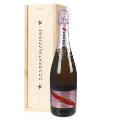 Mumm Rose Champagne Congratulations Gift In Wooden Box