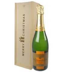 Veuve Clicquot Vintage Champagne Single Bottle Christmas Gift In Wooden Box