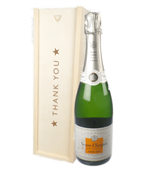 Veuve Clicquot Demi Sec Champagne Thank You Gift In Wooden Box