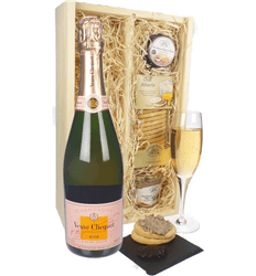 Veuve Clicquot Rose Champagne & Gourmet Food Gift Box